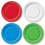 Disposable plates Stock Photos