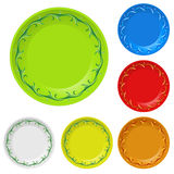 Disposable plates Royalty Free Stock Image