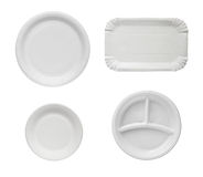 Disposable plates. Royalty Free Stock Photos