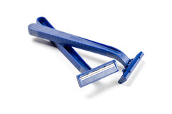 Disposable razors. Two disposable razors  on white background Royalty Free Stock Images