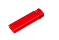 Disposable red lighter Royalty Free Stock Image