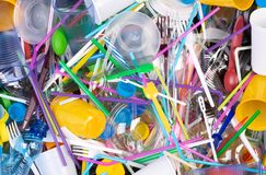 Free Disposable Single Use Plastic Objects That Cause Pollution Of The  Environment, Especially Oceans Stock Image - 149971521