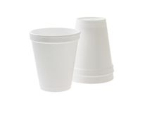 Disposable styrofoam cups Royalty Free Stock Photos