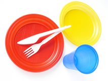 Disposable tableware Royalty Free Stock Photo