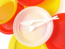 Disposable tableware royalty free stock photography