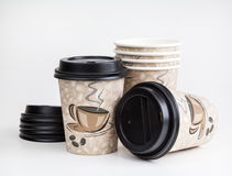 Disposable tableware, cup Stock Photo