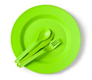 Disposable tableware Stock Image