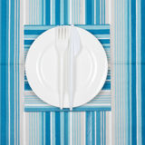 Disposable tableware set Stock Images