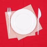 Disposable tableware set Royalty Free Stock Photo
