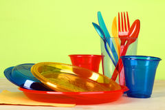 Disposable tableware Stock Images