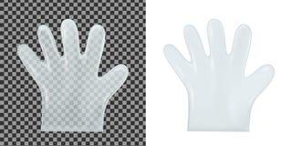 Disposable transparent plastic gloves stock illustration