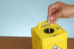Disposal box. Used in hospital or house Royalty Free Stock Photos