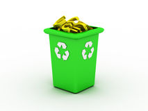 Disposal container. Image generated in 3D application. High resolution image Royalty Free Stock Photography