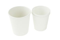 Disposal paper cups Royalty Free Stock Photos