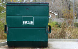Disposal and recycling dumpster Stock Image