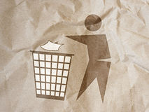 Disposal sign on brown paper background Royalty Free Stock Images