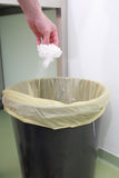 Dispose of garbage medicine. In hospital Royalty Free Stock Photography