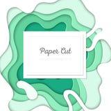 Disposição abstrata verde - o papel do vetor cortou a ilustração Foto de Stock