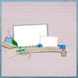 Disposição bonita do scrapbook Fotos de Stock