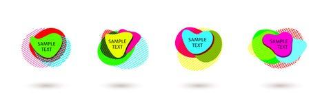 Disposição brilhante de anunciar bandeiras brilhantes coloridas da forma orgânica abstrata do elemento geométrico do projeto mode ilustração stock