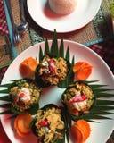 Disposição cambojana do alimento foto de stock