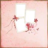Disposição com frames para fotos Foto de Stock