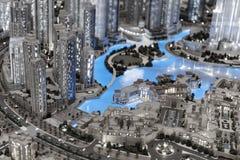 Disposição da cidade na alameda luxuty de Dubai Imagem de Stock Royalty Free