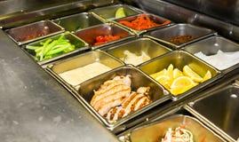 Disposição da cozinha do restaurante Foto de Stock