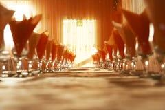 Disposição da tabela em um restaurante Imagens de Stock