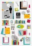 Disposição da Web do escritório do trabalho Molde gráfico liso colorido Imagem de Stock Royalty Free