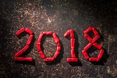 A disposição das figuras pelo próximo ano novo 03 Imagem de Stock Royalty Free