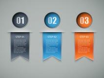 Disposição das opções de Infographic Fotografia de Stock