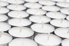 Disposição das velas brancas Fotografia de Stock Royalty Free