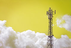 Disposição de antena, transmissor do sinal Imagens de Stock