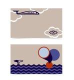 Disposição de cartão. Molde editável do projeto ilustração do vetor