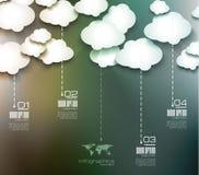 Disposição de Infographic para dados comerciais modernos Foto de Stock Royalty Free