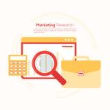 Disposição de Infographic para o conceito da pesquisa de mercado Fotografia de Stock