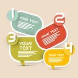 Disposição de Infographics do papel do vetor Imagem de Stock