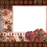 A disposição de página aciganada boémia 8x8 do álbum do scrapbook do estilo avança ilustração stock