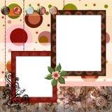 A disposição de página aciganada boémia 8x8 do álbum do scrapbook do estilo avança Fotografia de Stock Royalty Free