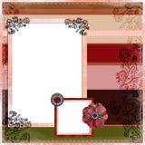 Disposição de página aciganada boémia do álbum do Scrapbook ilustração stock