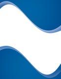 Disposição de página azul moderna Foto de Stock Royalty Free