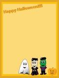 Disposição de página de Halloween Fotos de Stock Royalty Free