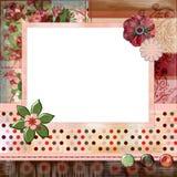 A disposição de página impressionante 8x8 do álbum do scrapbook avança, estilo boémio aciganado. Imagens de Stock Royalty Free