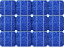 Disposição de painéis solares azuis Fotografia de Stock Royalty Free