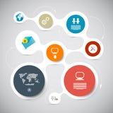 Disposição de papel de Infographic do vetor do círculo Fotos de Stock Royalty Free