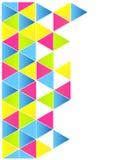 Disposição colorida dos triângulos Fotografia de Stock Royalty Free