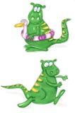 Disposição de projeto running do dragão Imagens de Stock