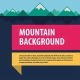 Disposição de propaganda do molde das montanhas Imagens de Stock Royalty Free