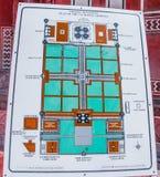 Disposição de Taj Mahal Fotografia de Stock